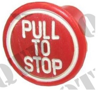Stop Knob Red