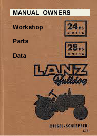 John Deere-Lanz, Work Shop Manual  Types 300 & 500