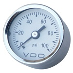 Pressure gauge, Oil, 100PSI, VDO , Mini