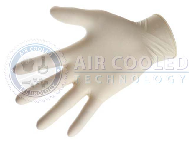 Latex Gloves, White, 100 Units