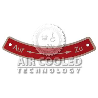 Badge Plate Cooling air controls  003393003