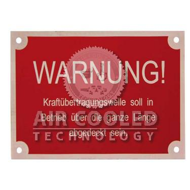 Badge - warning PTO  003393022