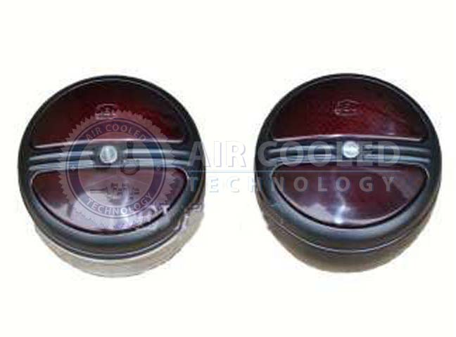 Lamp Set, Red/Red round Turn/Side