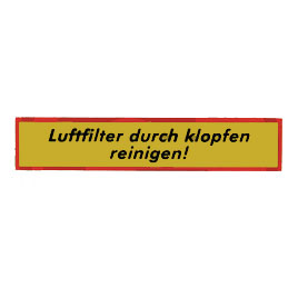 Sticker ,Air Filter, Steyr T180 16037
