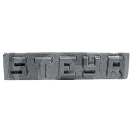 Type badge, STEYR  T 180A, T 185, T 185 a, T 280, T 280 A  groB
