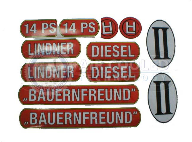 Stickers for Lindner 14hp  286L14