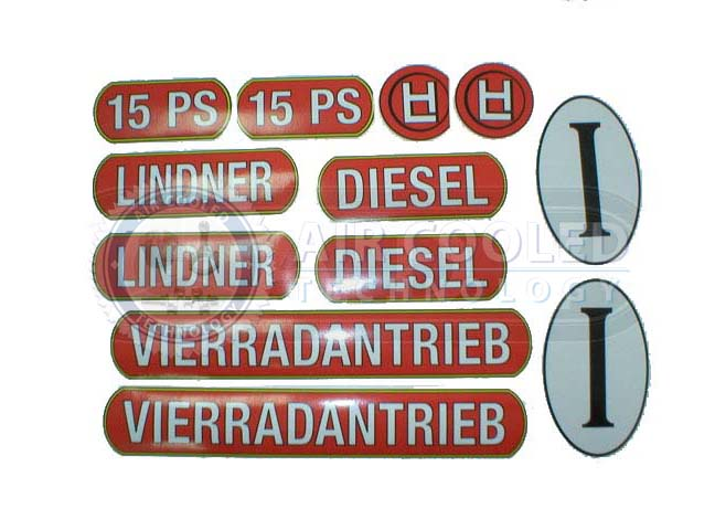 Stickers for Lindner 15PS  286L15