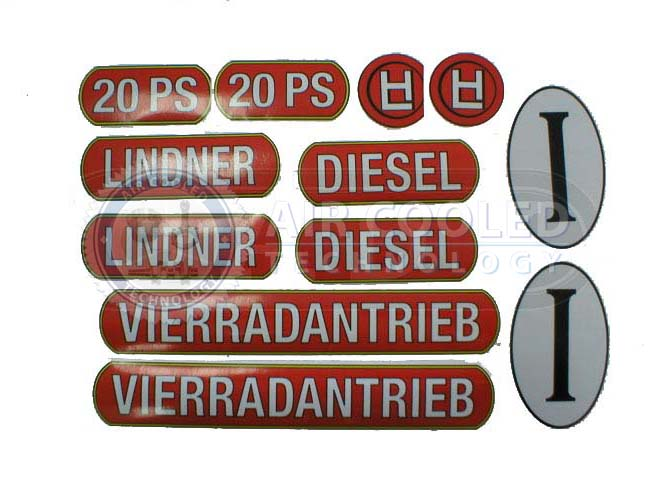 Stickers for Lindner 20PS  286L20