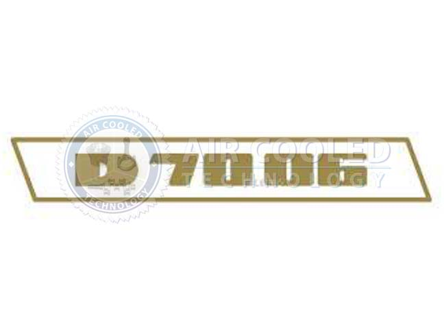 STICKER, gold set, D 7006, Deutz