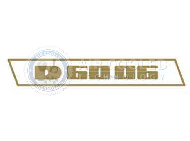 STICKER, gold set, D 6006, Deutz