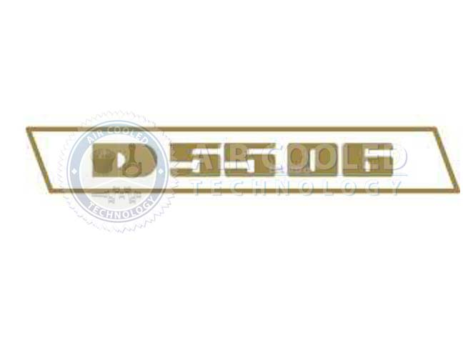 STICKER, D5506, set, gold, Deutz