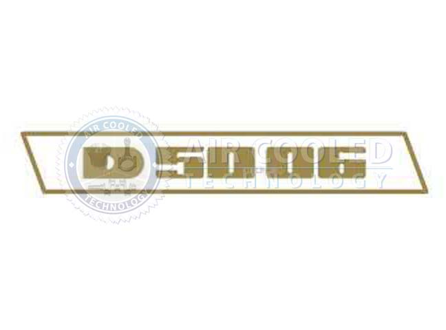 STICKER, D 5006, set, GOLD, Deutz
