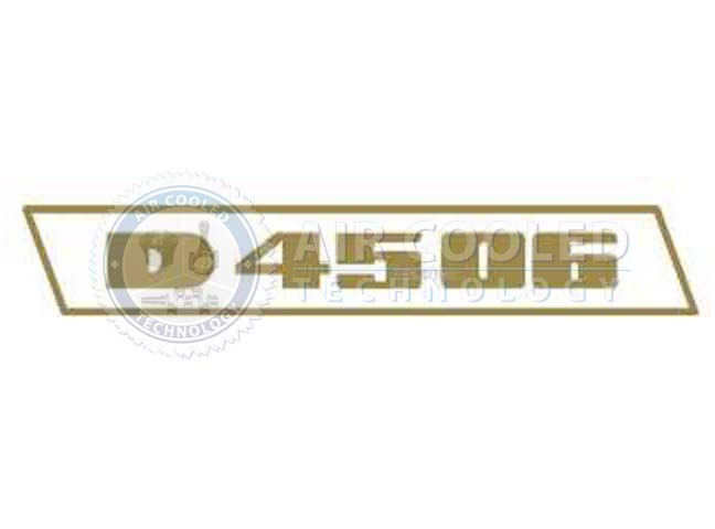 STICKER, gold set, D 4506, Deutz