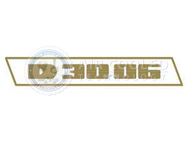 STICKER, gold set, D 3006, Deutz