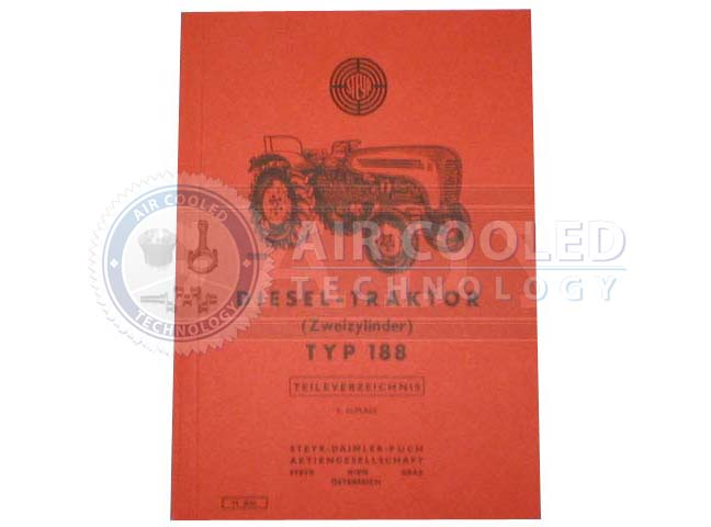 Parts Book, Parts manual,  Steyr T 188  6762386