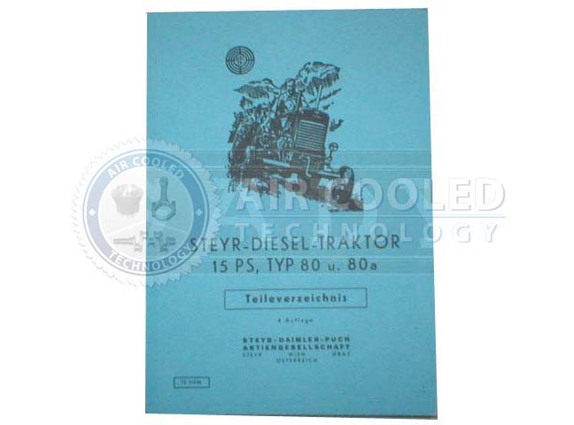Steyr, Parts book, Parts manual, T 80, 13PS  6762902