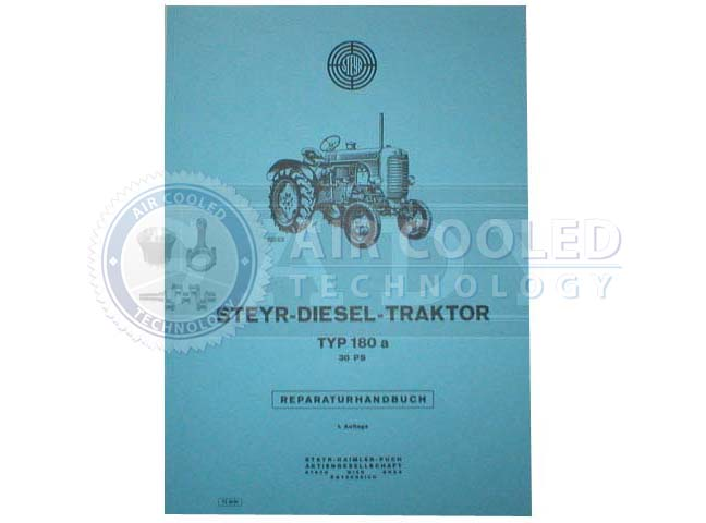 Repair manual, Repair book,r Steyr T 180, T 180a  6762906