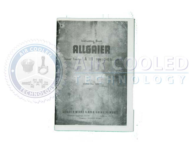 English Instruction Book, A111 , Owners, Allgaier